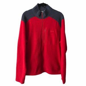 MEC Red Fleece Zip Up Sweater Jacket medium